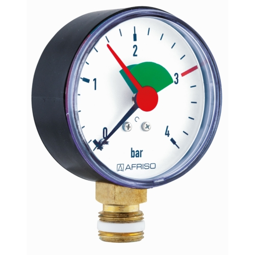 AFRISO Nyomásmérő fűtési rendszerhez HZ  63  0/4 bar