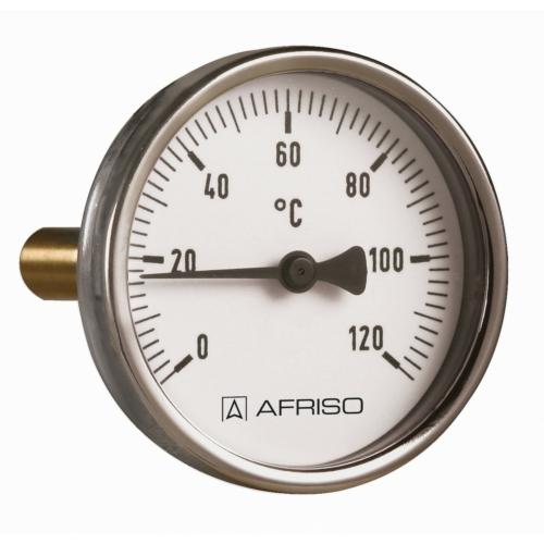 AFRISO Hőmérő acél BiTh  63 ST   0/ 120°C  63 mm 1/2 AX  KL.2
