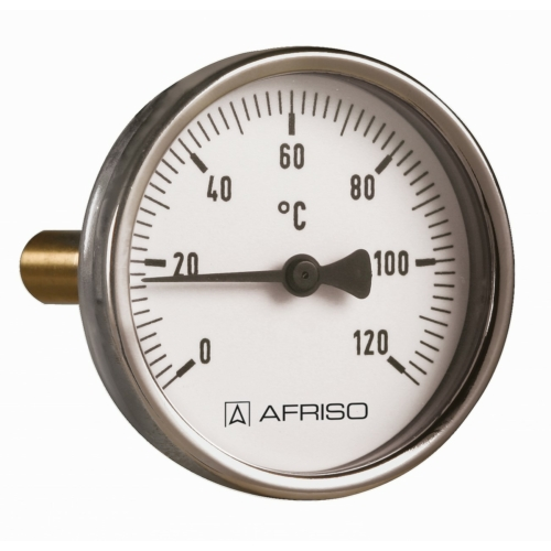 AFRISO Hőmérő acél BiTh  80 ST   0/ 120°C 100 mm 1/2 AX  KL.2
