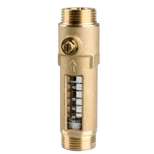 """AFRISO Átfolyásmérő DFM 15-2 M, G¾""""xG¾"""",  8-28 l/min, 4,8 m3/h"""