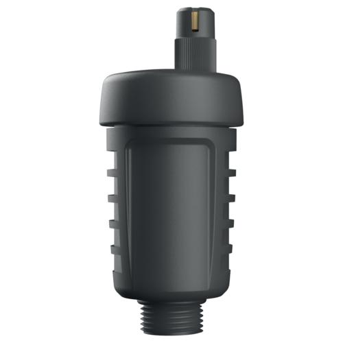 "AFRISO Fekete műanyag gyorslégtelenítő 3/8"", 6bar, 95°C"