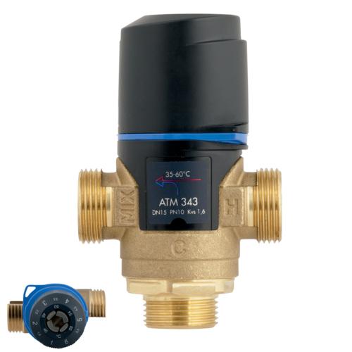 """AFRISO ATM 343 termosztatikus keverőszelep, G 3/4"""", 35 – 60 °C, 1,6m3/h"""